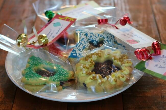 Homemade Christmas Gift - Easy Recipe for Razzleberry Pie Window Sugar Cookie Cut Outs