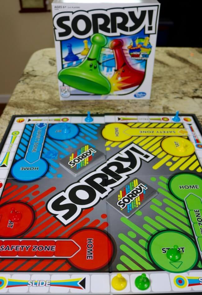 Sorry is a game of strategy and wits