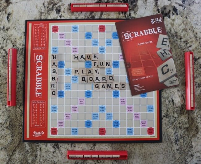 Scrabble is a board game that will develop linguistic intelligence - article by HappyandBlessedHome.com