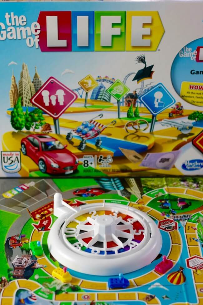 The Game of Life - perfect for imagining real life scenarios with kids
