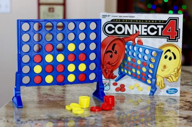 So fun - Connect Four - a great way to get two kids to play together
