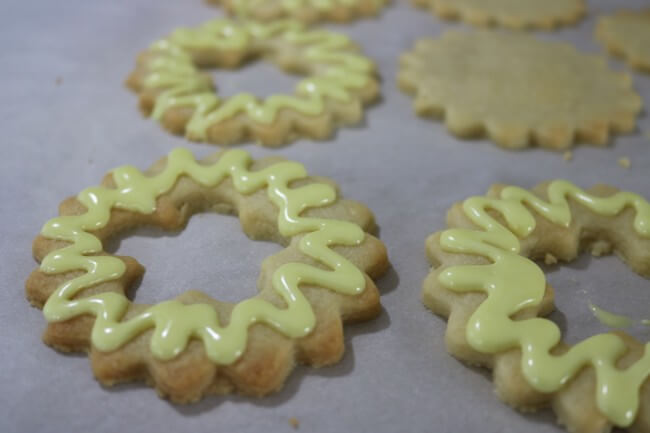 Add cookie frosting to create this Easy Recipe for Razzleberry Pie Window Sugar Cookie Cut Outs - a wonderful Christmas cookie recipe