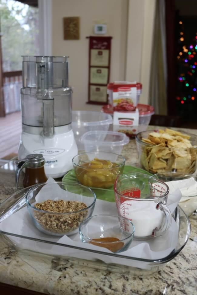 Ingredients for Cinnamon Apple Pie Dip