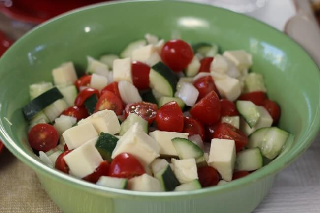 Mozzarella, Cucumber and Tomato Salad Recipe