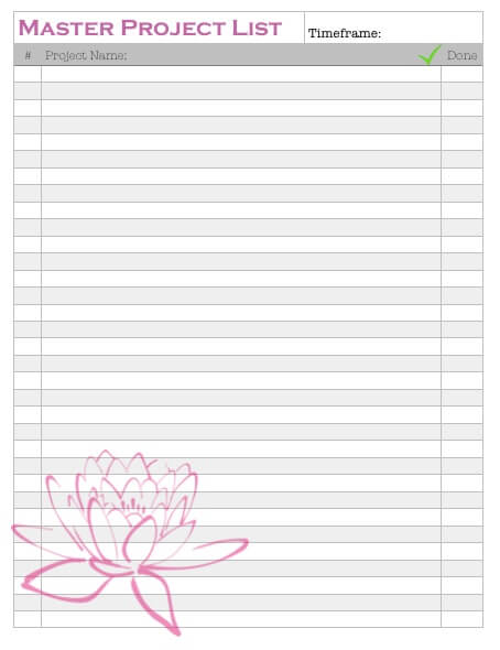 Page 9 Master Project List
