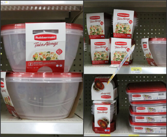 Rubbermaid TakeAlongs avilable at Walmart