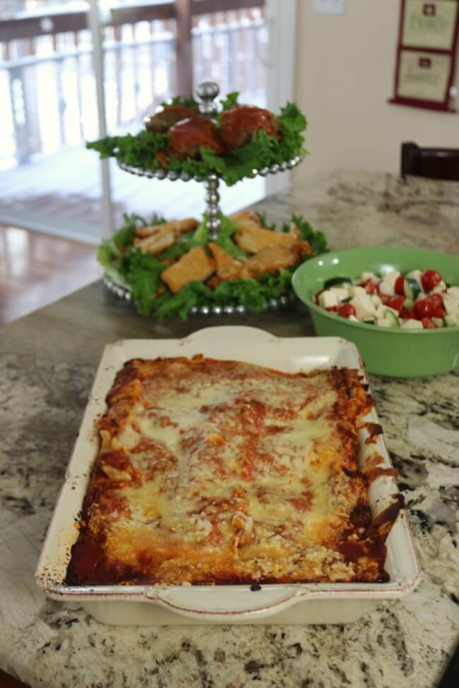 STOUFFER'S® Family Size Entreés, Lasagna with Meat Sauce with Stuffed Bell Peppers and Chicken Parmesan