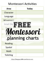 FREE Montessori Planning Charts from HappyandBlessedHome.com