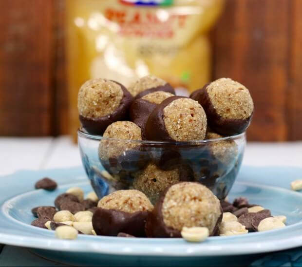 An energy boost - SKINNY Peanut Butter and Chocolate Buckeyes
