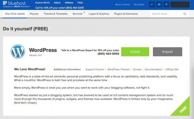 DIY Word Press Install