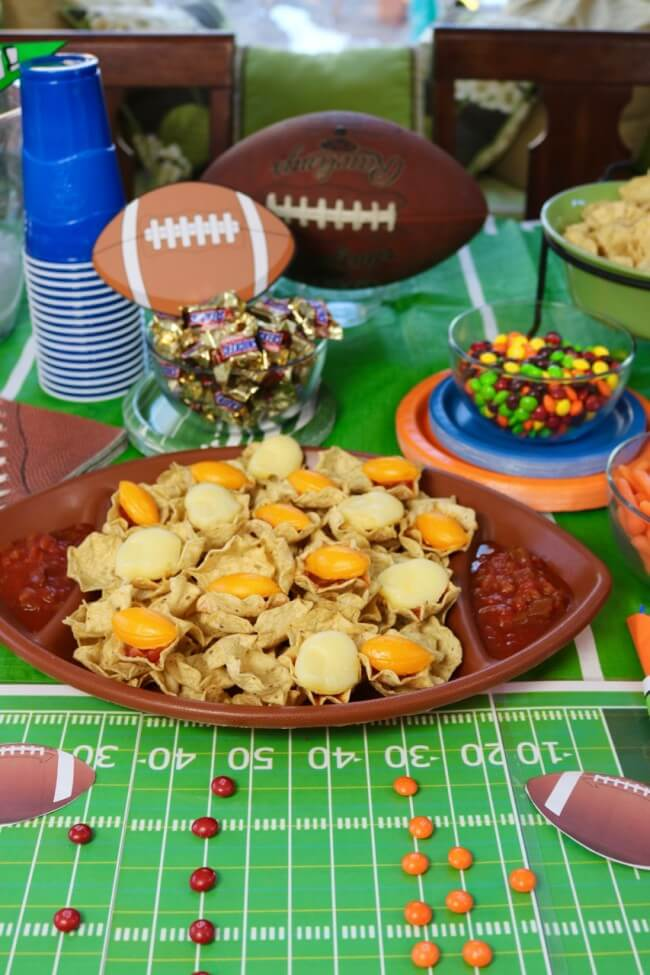 FREE football party printables like this football field make game day festive and fun