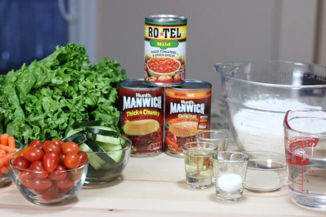 Easy ingredients with Manwich and Rotel for a hearty pizza with Make Ahead Pizza Dough