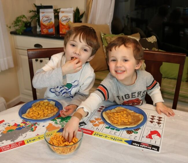 Goldfish Crackers taste great and lead to hours of family fun in the kitchen
