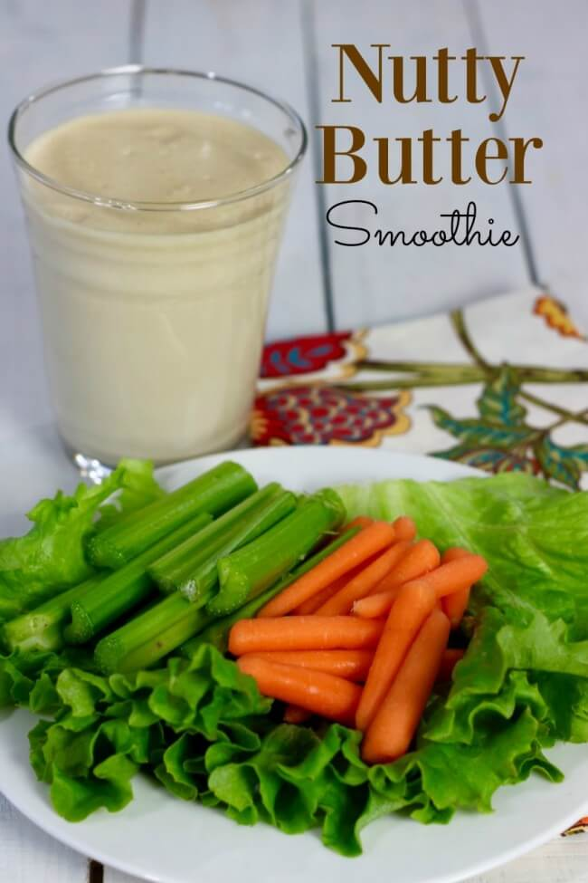 Nutty Butter Smoothie - allows you to eat healthy as #SteadyIsExciting for people with Diabetes
