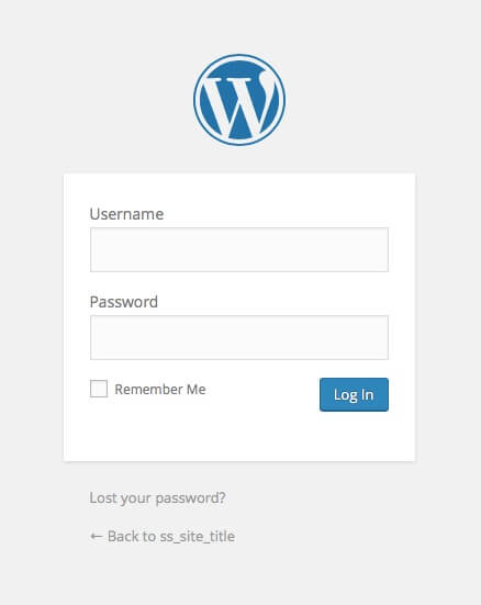 One your blog login page you'll see this