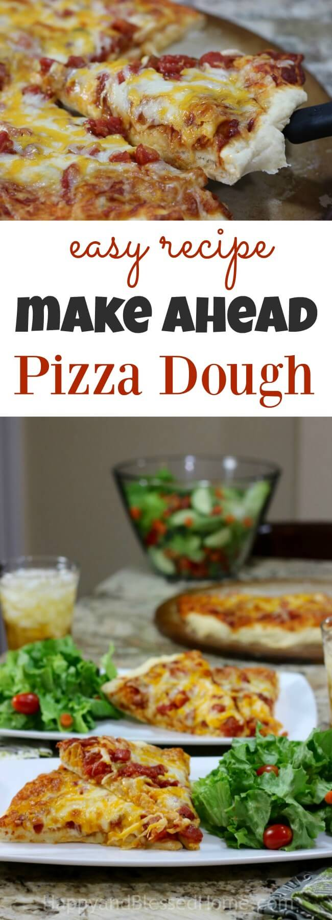 Party coming up ? Make this easy recipe for make ahead pizza dough!