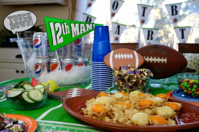 Refreshing Football Party treats with SNICKERS®, Skittles®, Pepsi, TOSTITOS chips and salsa