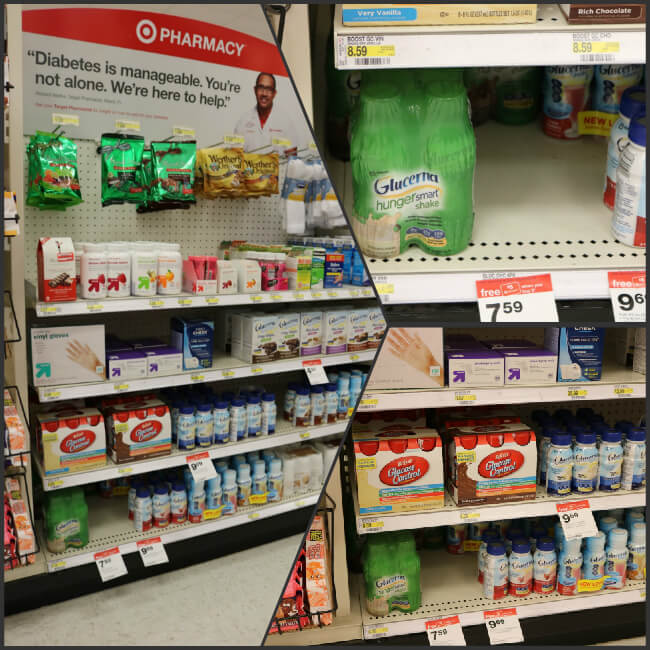Shop Target for Glucerna and receive support in managing diabetes
