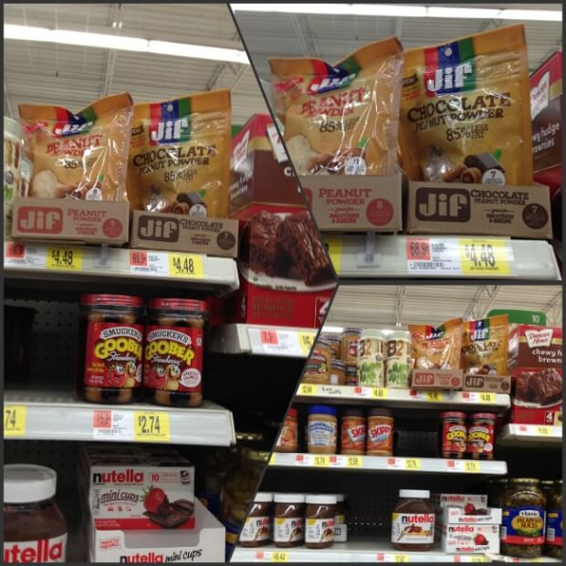 You can find JIF Peanut Butter Powder at Walmart
