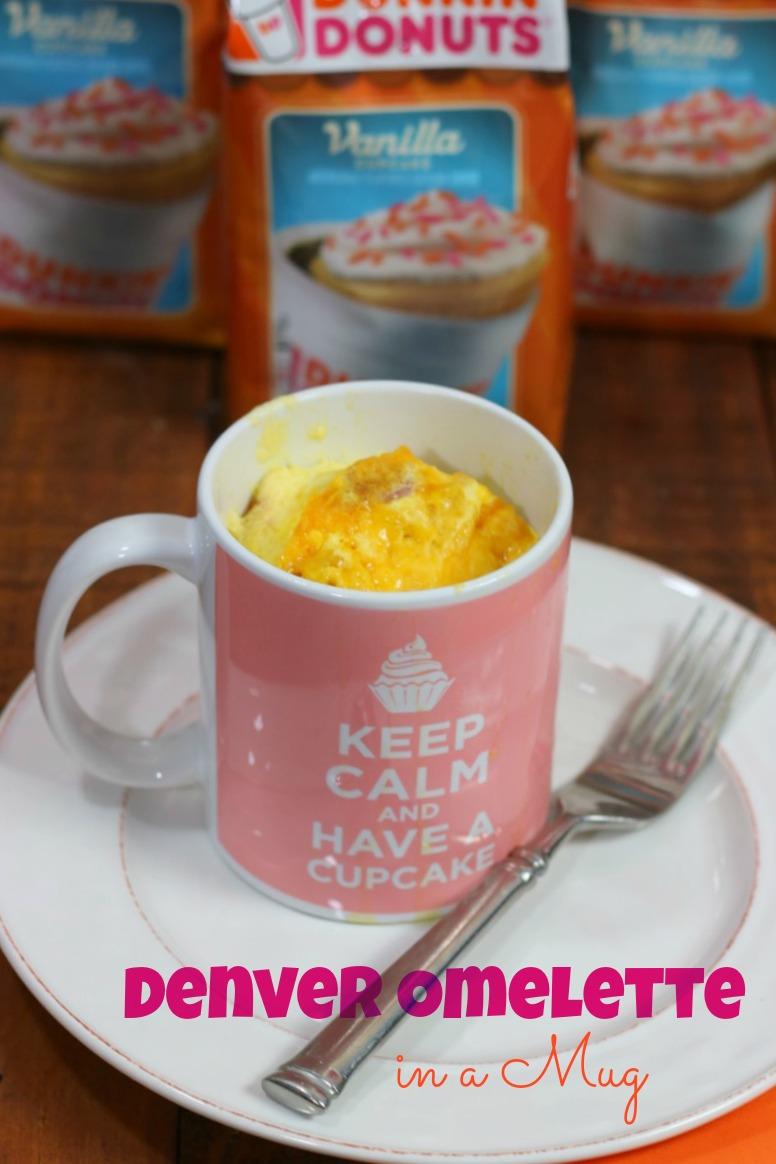 Easy microwave recipe for Denver Omelette in a Mug