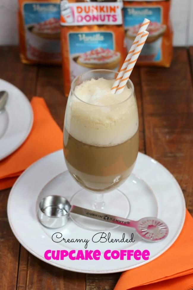 Easy recipe for iced Creamy Blended Cupcake Coffee