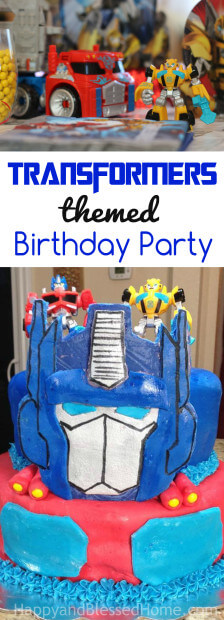 Fun ideas for kid games and party food for a fantastic Transformers Birthday Party