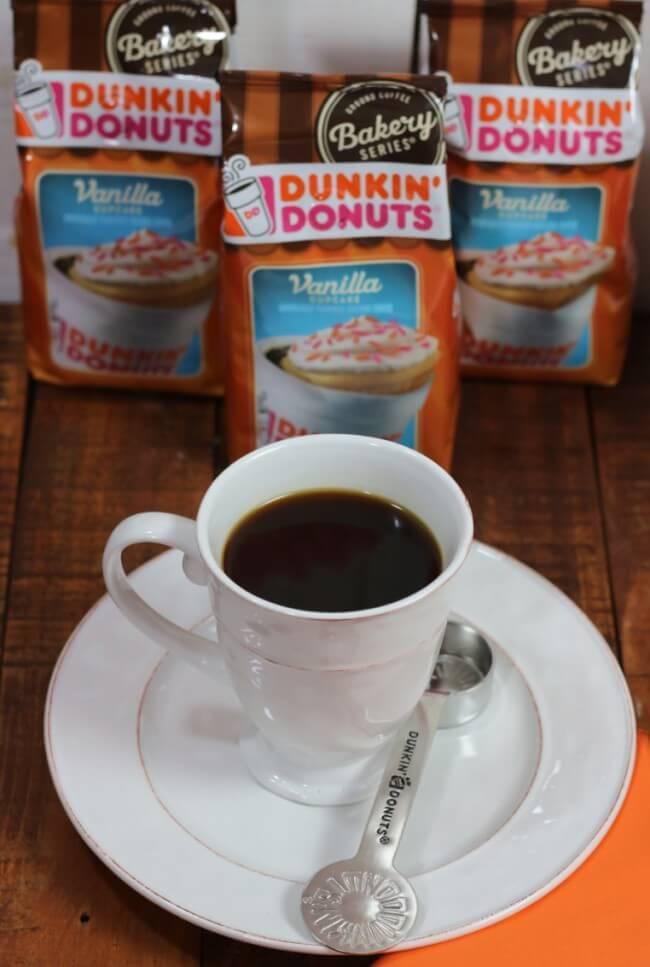 Duncan Doughnuts Vanilla Cupcake Coffee