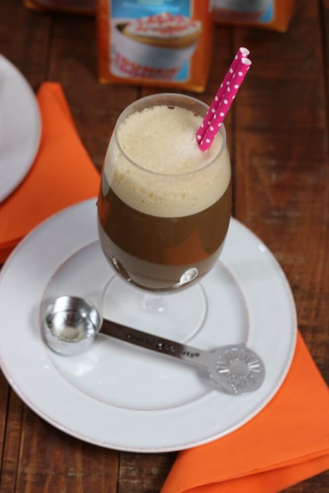 Rich dark and creamy Vanilla Cupcake Iced Coffee