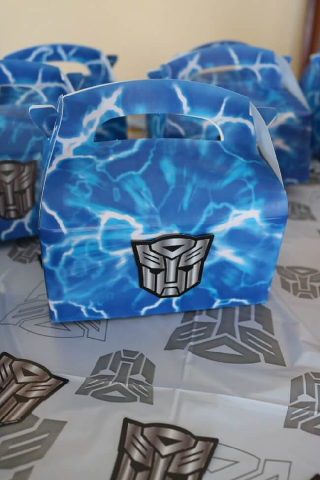Transformers Party Favor Box from Birthday Express