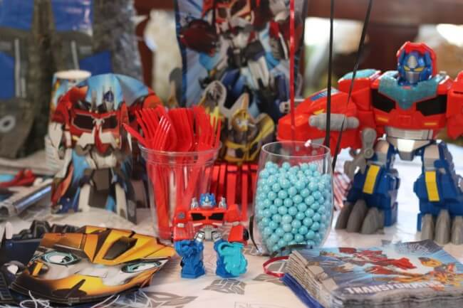 With fabulous party gear from Birthday Express we hosted an awesome Transformers Birthday Party for our son!