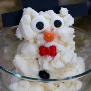 Snowman Snow Ice Cream Recipe
