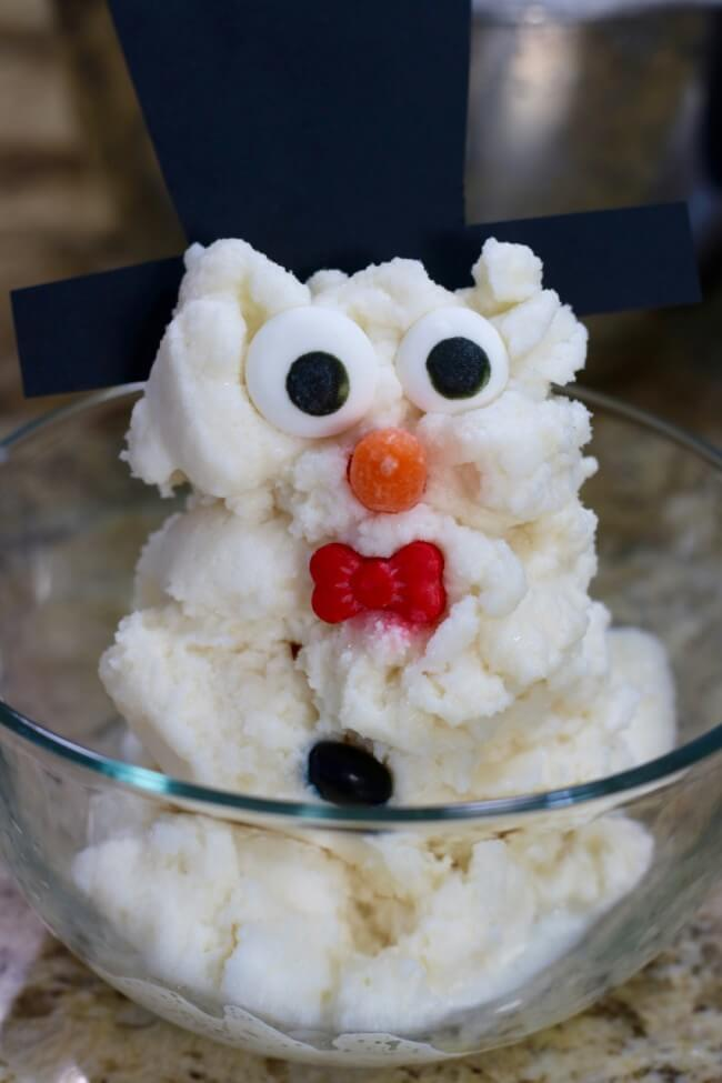 Snowman Snow Ice Cream - cream goodness in a blender
