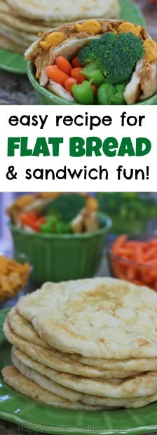 Kids love making and decorating flat bread - it's sandwich making fun for the whole family