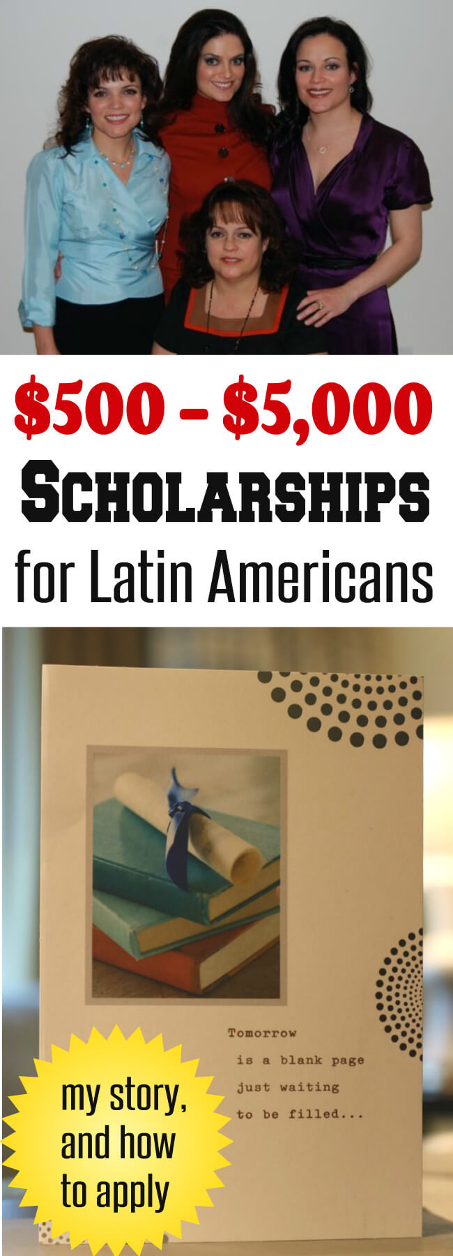 The Hispanic Scholarship Fund offers Latin Americans $500 to $5000 in scholarships every year - here I share my story and how to apply