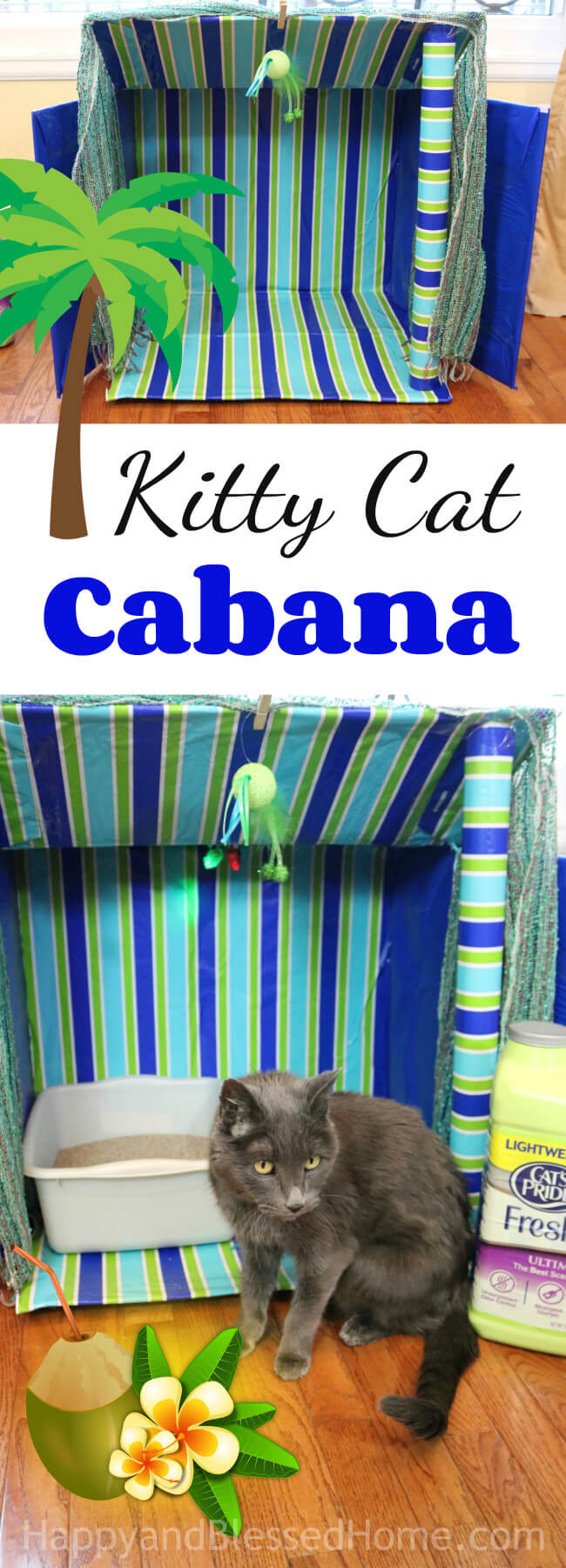 A clever shelter for your cat - A Kitty Cat Cabana