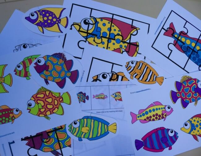 A fun printable pack! Go Fish Activity Pack for Kids with 10 Fun Activities