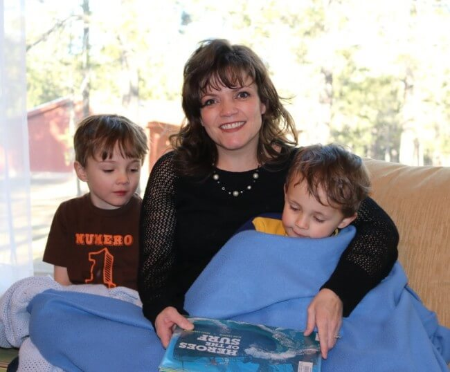 Loving a good snuggle after playing with the Go Fish Activity Pack for Kids with 10 Fun Activities