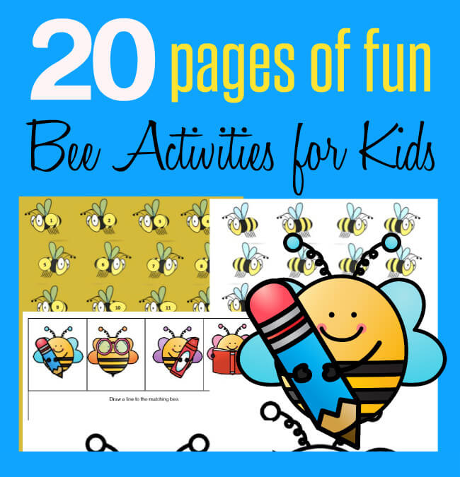 20 Page Fun Bee Activity Pack