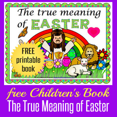 Children's Easter Book from HappyandBlessedHome.com