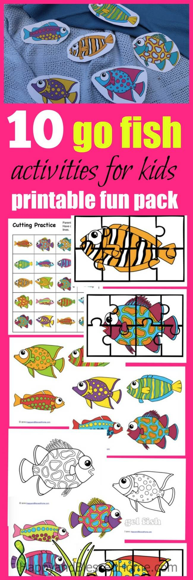 Wow! My kids loved this game - 10 go fish activities for kids in a printable fun pack
