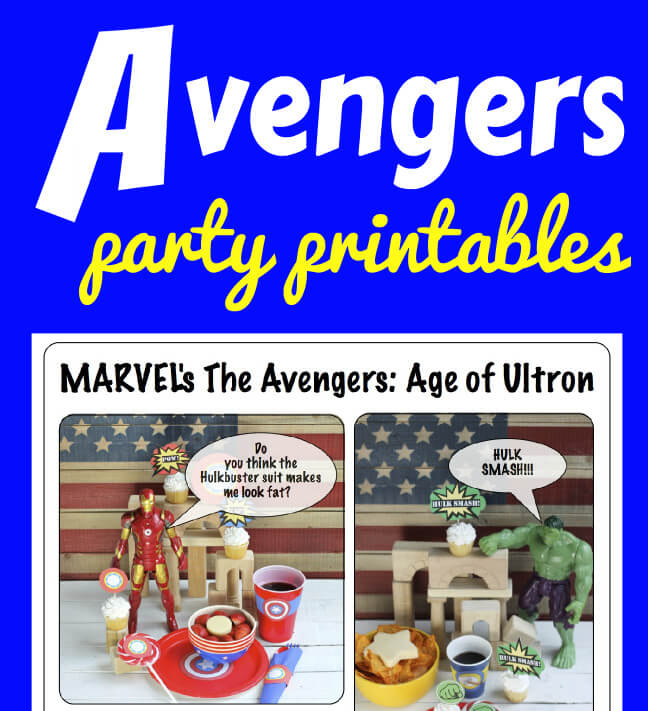 Avengers Party Printables