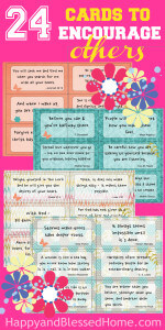 Beautiful and inspiring cards to encourage a friend, teacher or mentor - 24 Cards to Encourage Others