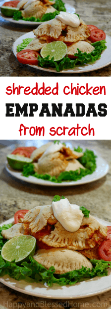 Easy Recipe- Shredded Chicken Empanadas from Scratch