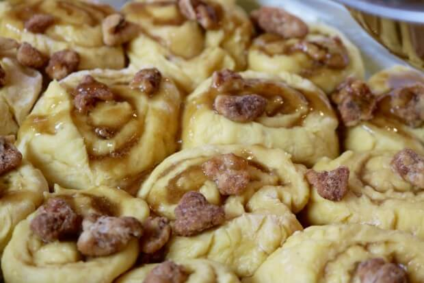 Caramel Walnut Sweet Rolls - ready to bake