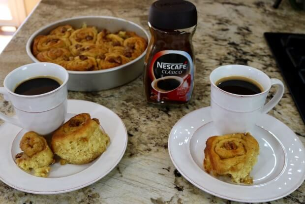 Serve with NECAFE coffee to enjoy these Caramel Walnut Sweet Rolls