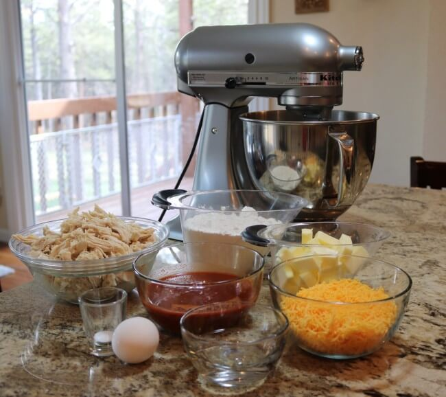 Ingredients for this Easy Recipe: Shredded Chicken Empanadas from Scratch