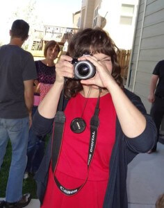 Monica and her Canon Camera