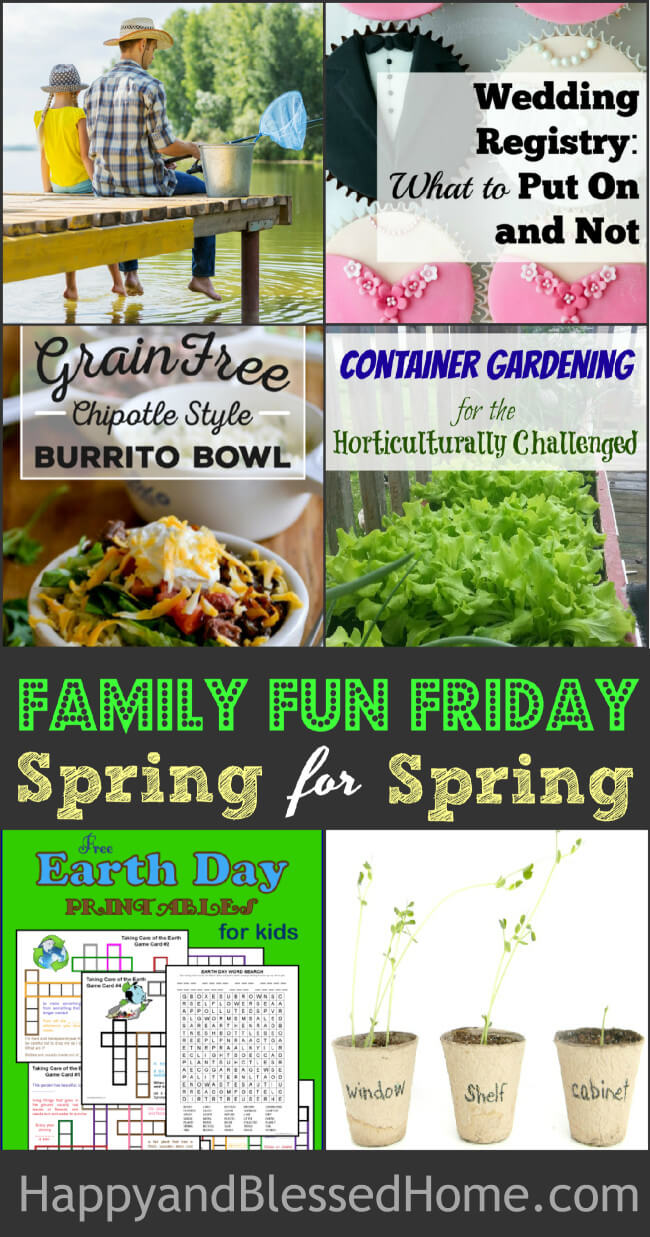Spring for Spring at Family Fun Friday by linking up with 100 bloggers and 15K subscribers