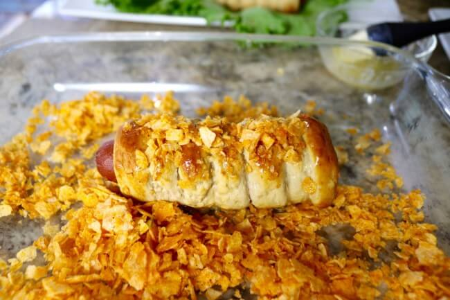 Add crunch and flavor with BBQ Chips for this easy recipe: Spiral Pretzel Hot Dogs Recipe