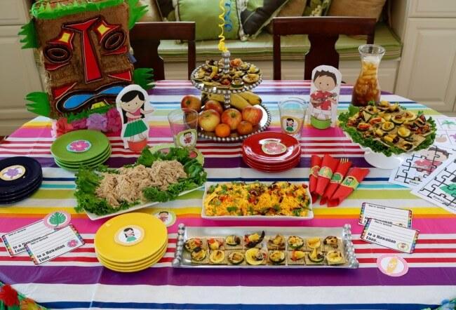50 Page Hawaiian Luau Party Pack and Hawaiian Luau Party Tutorial plus an easy Hawaiian Grilled Summer Vegetables Recipe